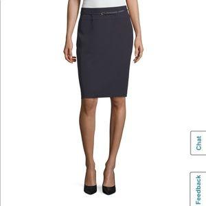Liz Claiborne Career Navy Belted Pencil Skirt 16W